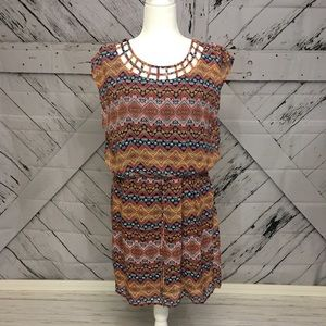 Aztec Pattern Midi Dress